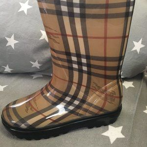 BURBERRY classic print Wellies/Rainboots sz 35/5